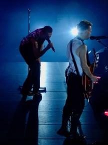 Dave Gahan and Martin Gore Red Guitar Depeche Mode Global Spirit Tour Rogers Place Edmonton Oct 27 2017