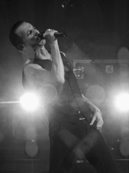 Dave Gahan B&W Leaning Depeche Mode Global Spirit Tour Rogers Place Edmonton Oct 27 2017