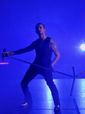 Dave Gahan Mic Stand Pose Depeche Mode Global Spirit Tour Rogers Place Edmonton Oct 27 2017
