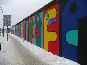 East Side Gallery - Thierry Noir's mural 2010