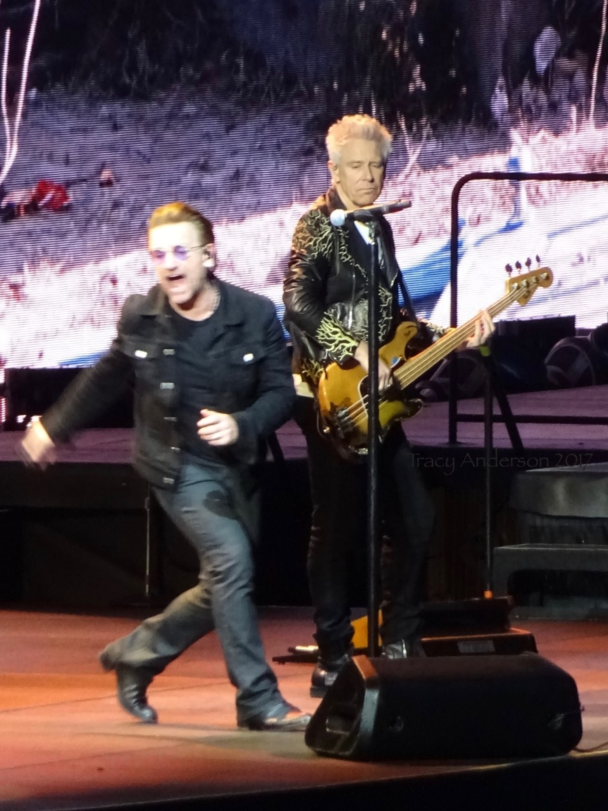 Bono and Adam Clayton U2 The Joshua Tree Tour Croke Park Dublin July 22 2017