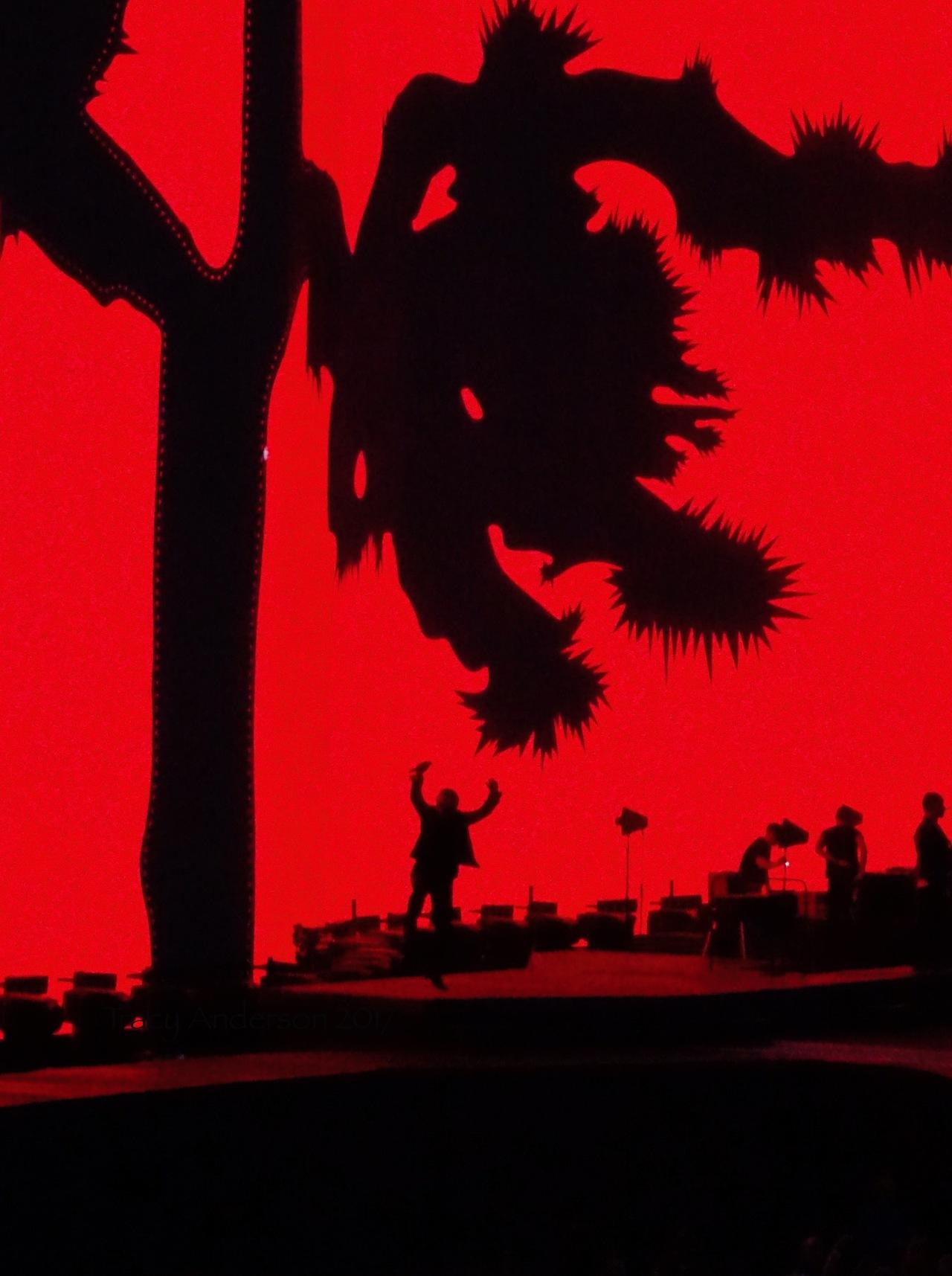 Bono in Air Streets Silhouette Croke Park Dublin U2 The Joshua Tree July 22 2017