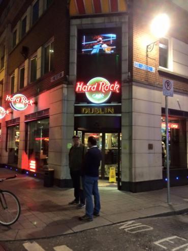 Hard Rock Cafe Dublin outside