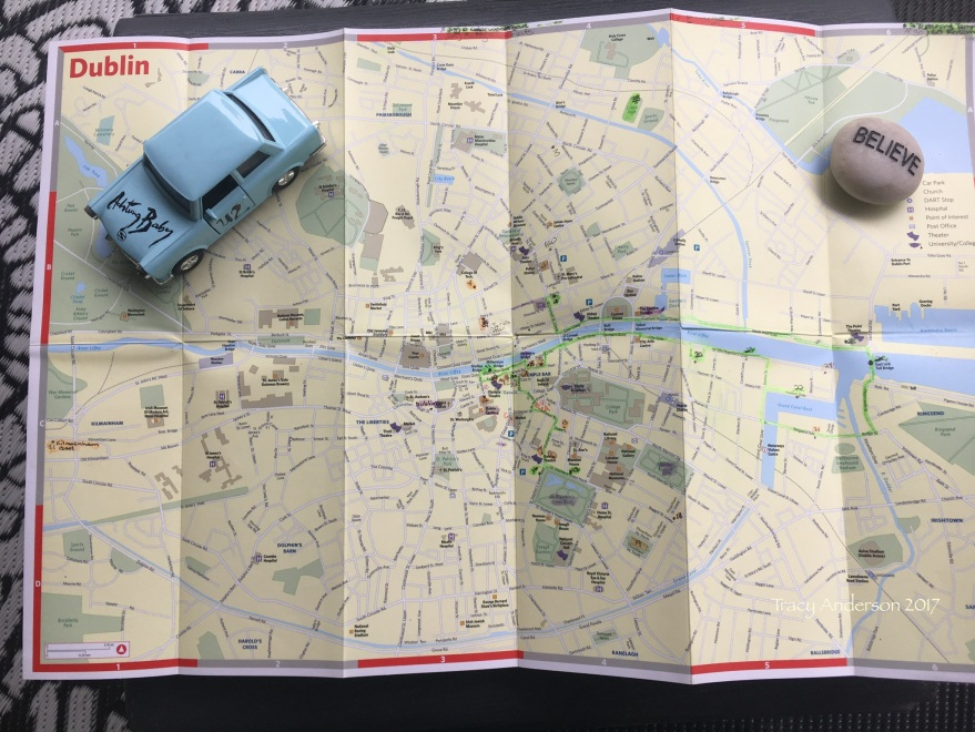 U2 Dublin Map With Highlighted Path