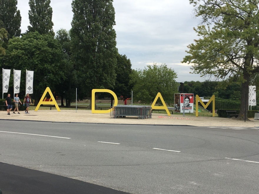 ADAM Sign Brussels Aug 1 2017 near King Baudouin Stadium