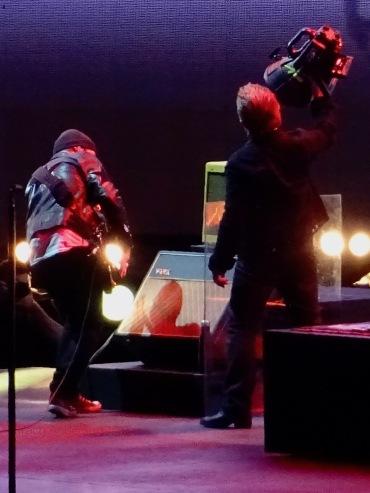 Bono Edge Light BTBS U2 Brussels Aug 1 2017