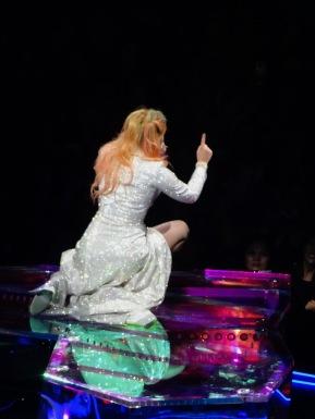 Lady Gaga On the Piano Kneeling Joanne World Tour Edmonton Aug 3 2017