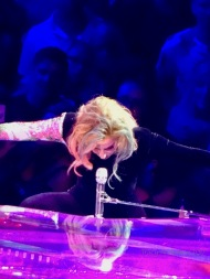 Lady Gaga Piano Arms Wide Joanne World Tour Edmonton Aug 3 2017