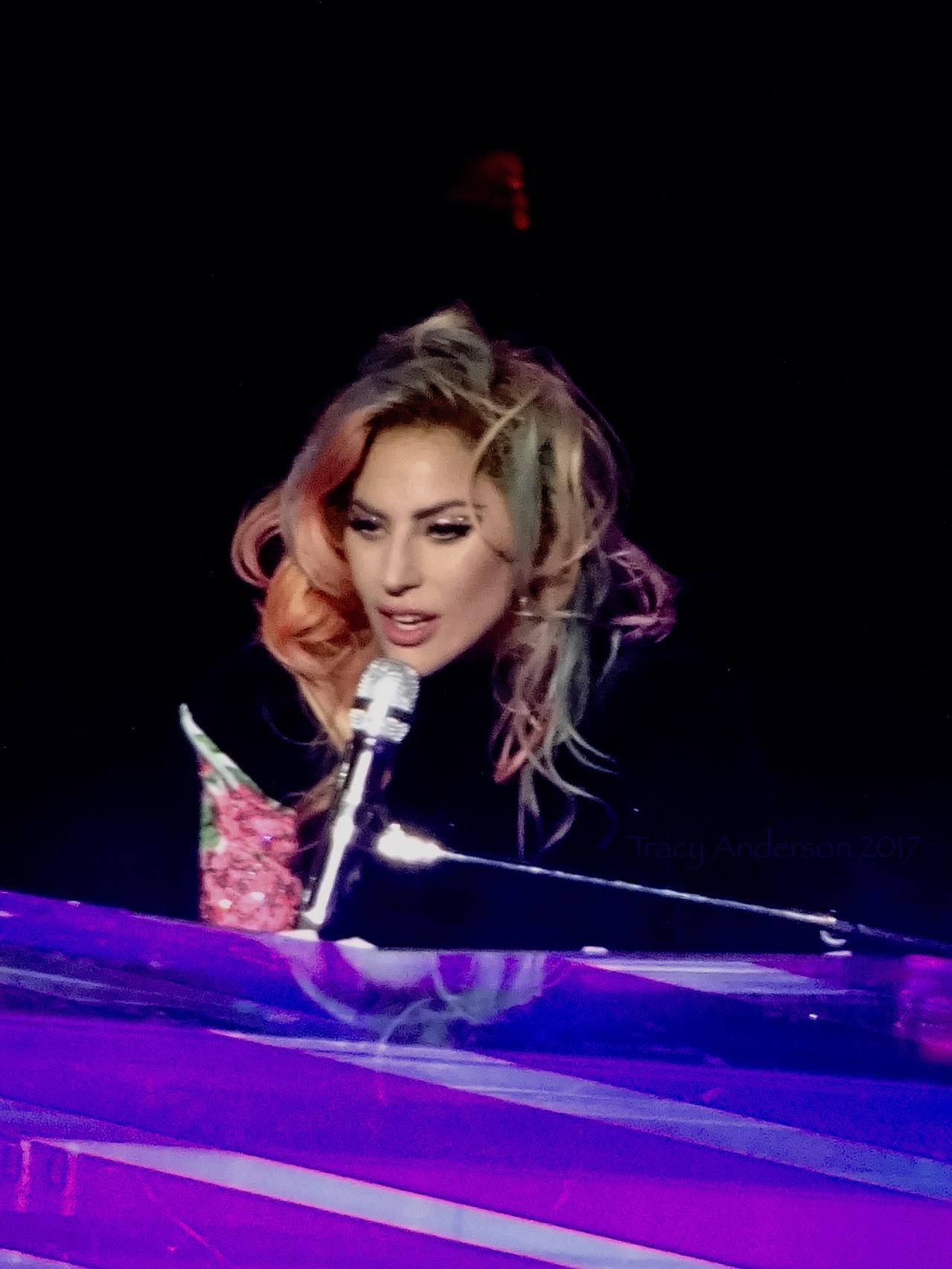 Lady Gaga at Piano Close Up Joanne World Tour Edmonton Aug 3 2017