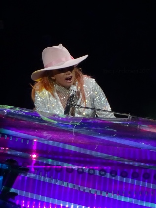 Lady Gaga Piano Stage Million Reasons Close up Joanne World Tour Edmonton Aug 3 2017
