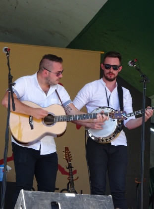 Paul McKenna and Conor Marley of the Paul McKenna Band Edmonton Folk Fest 2017