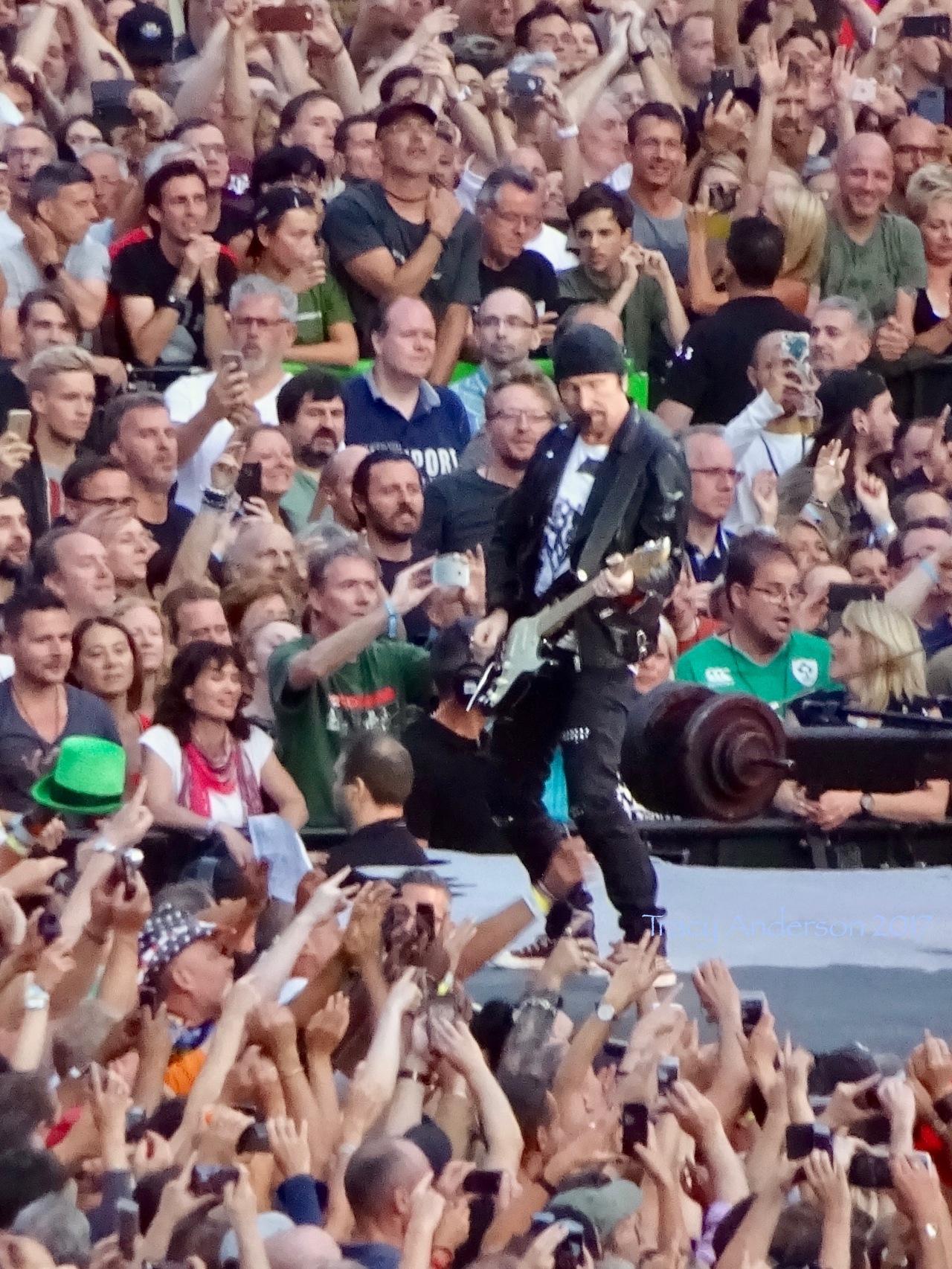 The Edge Sunday Bloody Sunday U2 Brussels August 1 2017