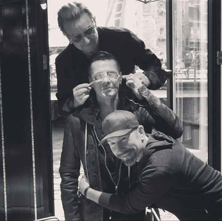 U2 Joking Around With Forks. From U2's Instagram