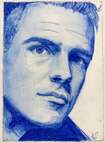 Brandon Flowers of The Killers. Portrait in Pastel Pencil by Tracy Anderson
