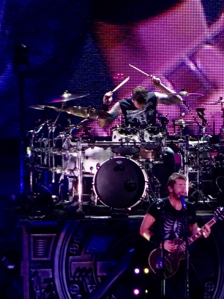 Chad Kroeger and Daniel Adair of Nickelback Feed The Machine Tour Rogers Place Edmonton Sept 28 2017
