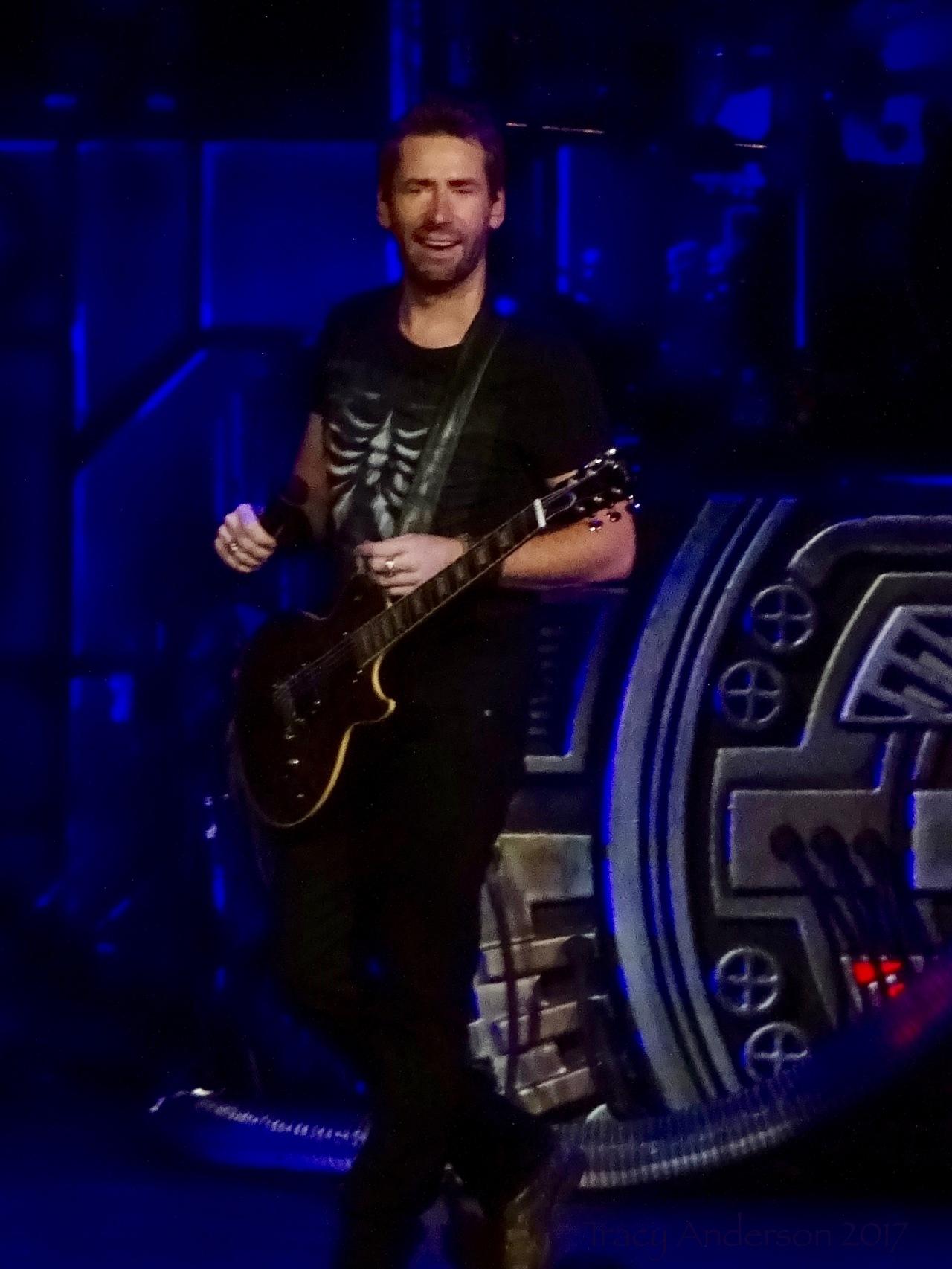 Chad Kroeger of Nickelback Rogers Place Edmonton Sept 28 2017