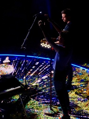 Chris Martin and Guy Berryman B Stage Coldplay Rogers Place Edmonton Sept 27 2017