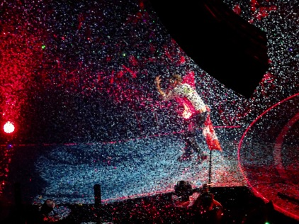 Chris Martin Confetti 3 Coldplay Rogers Place Edmonton September 27, 2017