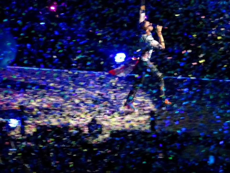 Chris Martin Confetti 4 Coldplay Rogers Place Edmonton September 27, 2017