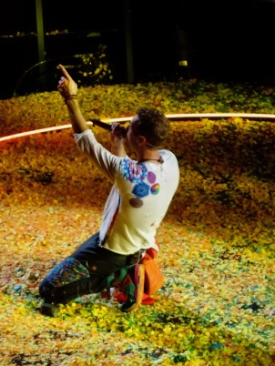 Chris Martin Yellow B Stage Coldplay Rogers Place Edmonton Sept 27, 2017