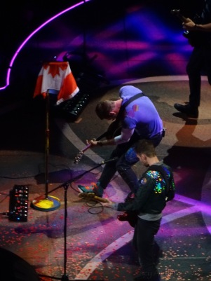 Guy Berryman Chris Martin Coldplay Rogers Place Edmonton Sept 27 2017