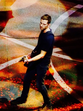 Guy Berryman Bass Coldplay Rogers Place Edmonton Sept 27 2017
