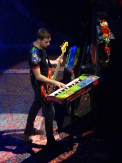 Guy Berryman Keyboards Coldplay Rogers Place Edmonton Sept 27 2017
