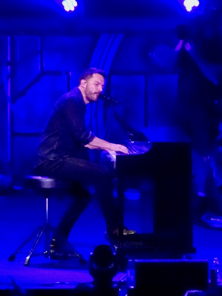 Ryan Peake of Nickelback at the Piano Rogers Place Edmonton Sept 28 2017