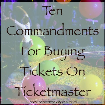Title Photo for Ten Commandments For Buying Tickets on Ticketmaster
