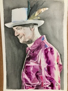 Gord Downie The Tragically Hip Man Machine Poet Tour 2017 watercolours by Tracy Anderson