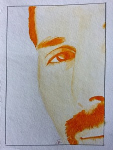 Freddie Mercury of Queen A Study in Orange by Tracy Anderson 2017