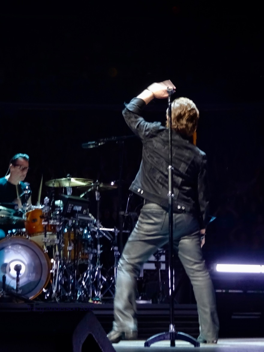 Bono and Larry Mullen U2 eiTour Las Vegas May 11 2018