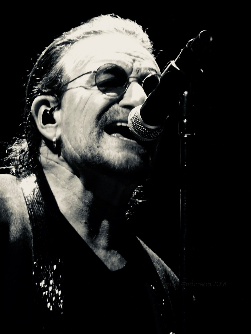 Bono Black and White U2 eiTour Las Vegas May 11 2018