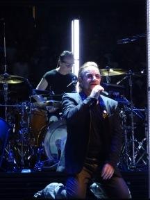 Bono kneeling U2 eiTour Las Vegas May 11 2018