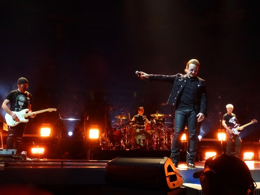 Bono pointing U2 eiTour Las Vegas May 11 2018