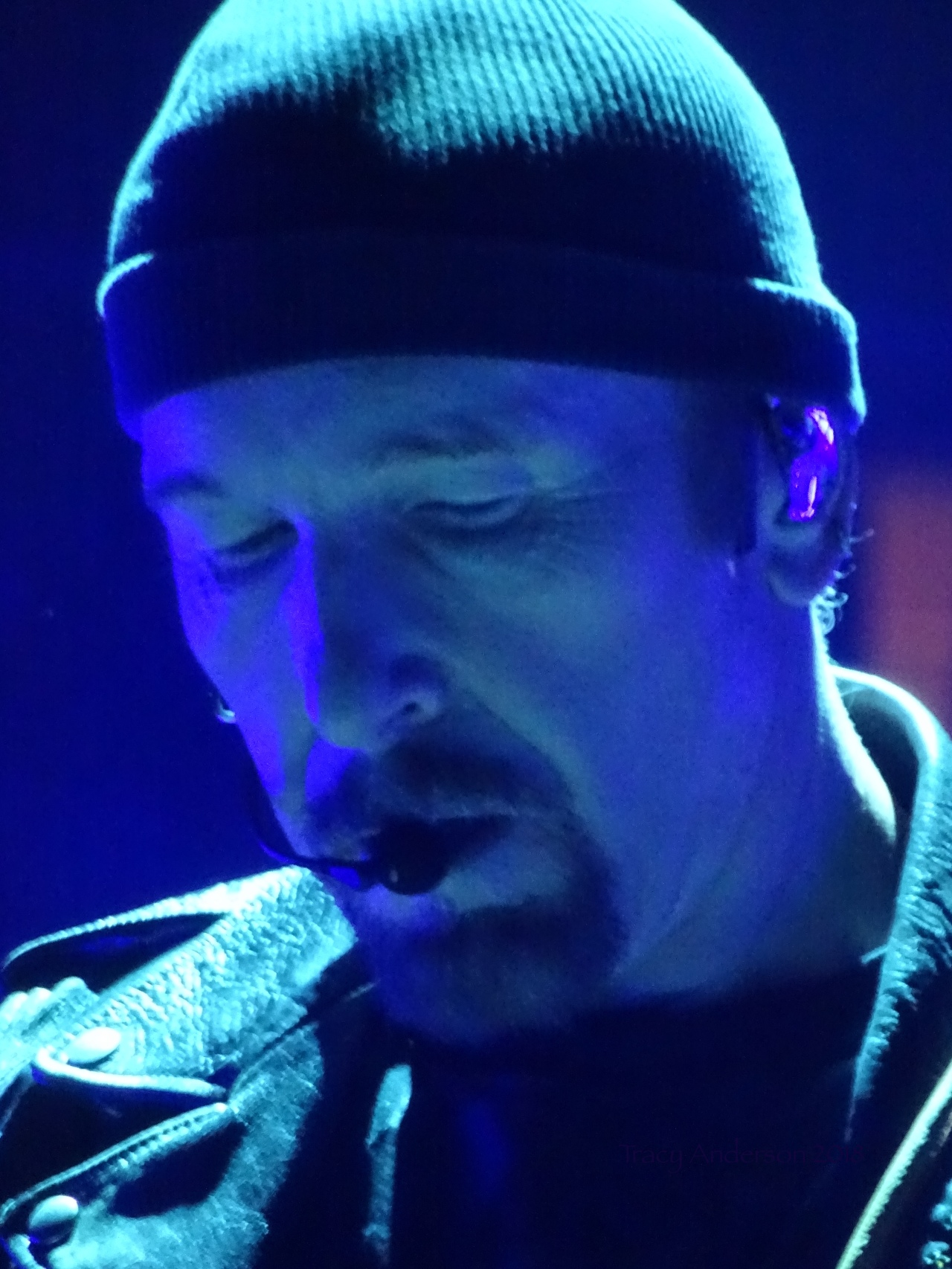 Edge Blue U2 eiTour Las Vegas May 11 2018