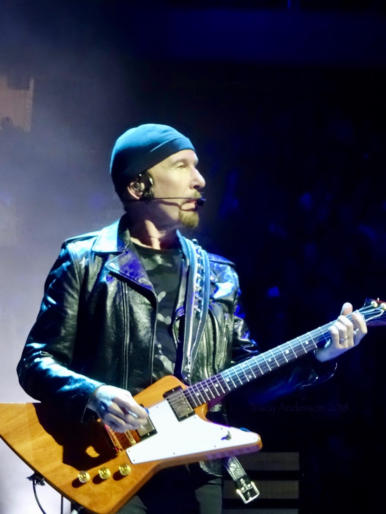 The Edge with Gibson Guitar U2 eiTour Las Vegas May 11 2018