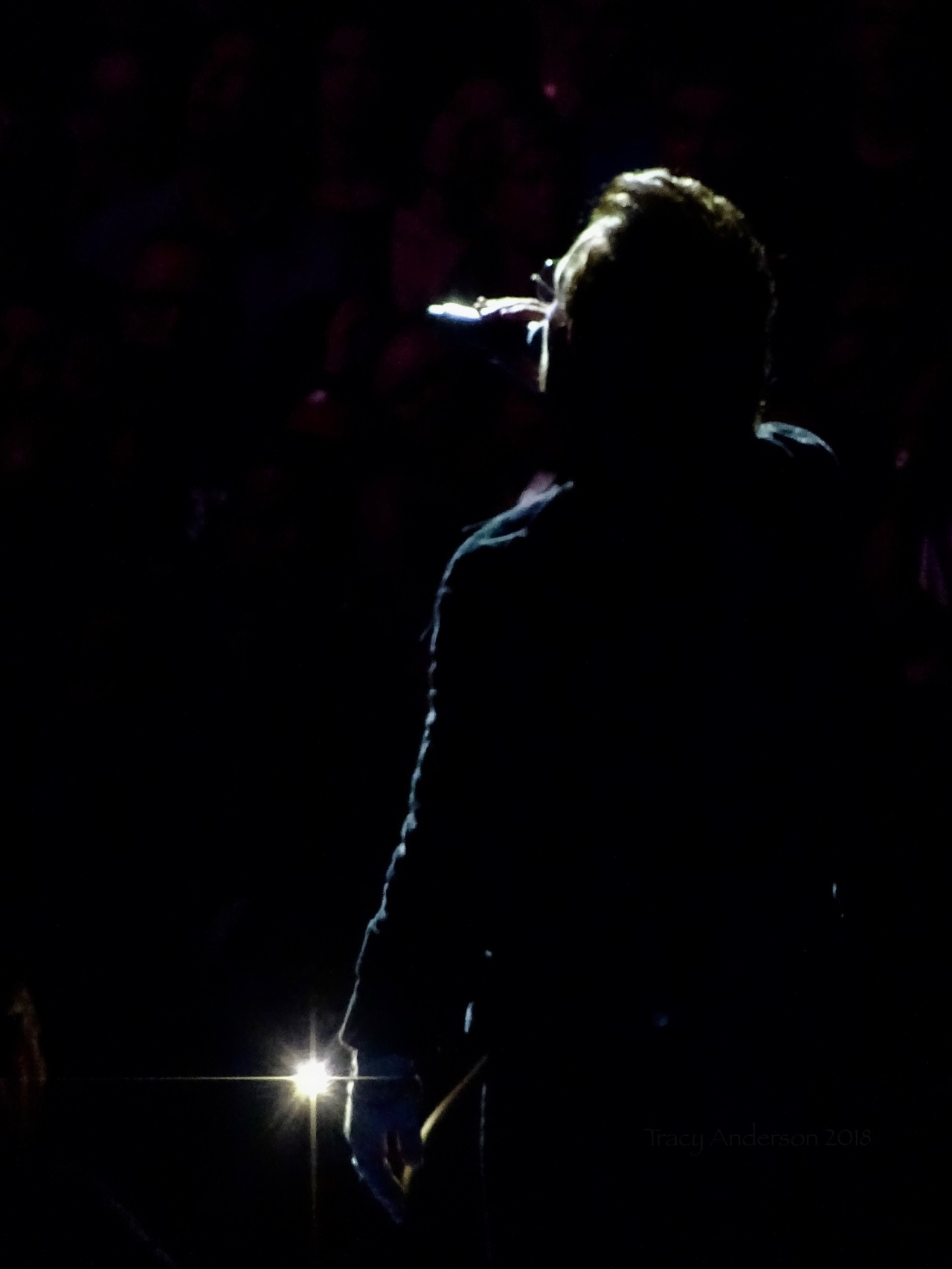 Bono Backlit Star U2 eXPERIENCE & iNNOCENCE Tour MSG June 25 2018