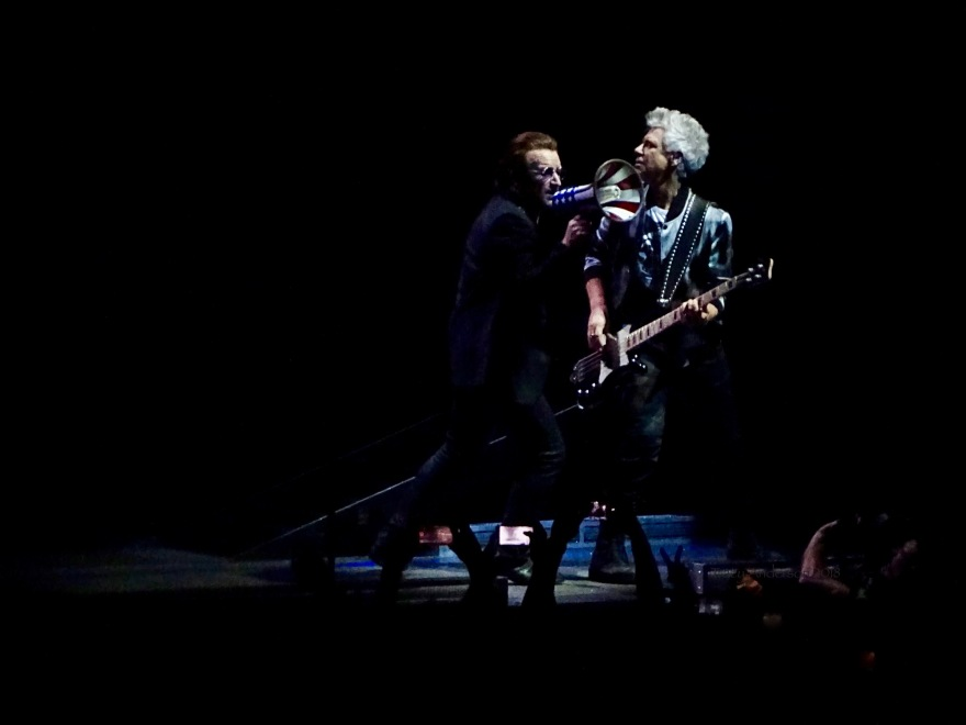 Bono Megaphone Adam Clayton U2 eXPERIENCE & iNNOCENCE Tour NJ June 29 2018