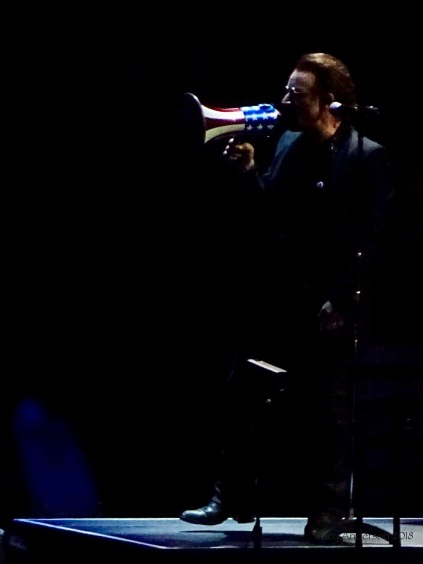 Bono Megaphone side U2 eXPERIENCE & iNNOCENCE Tour NJ June 29 2018