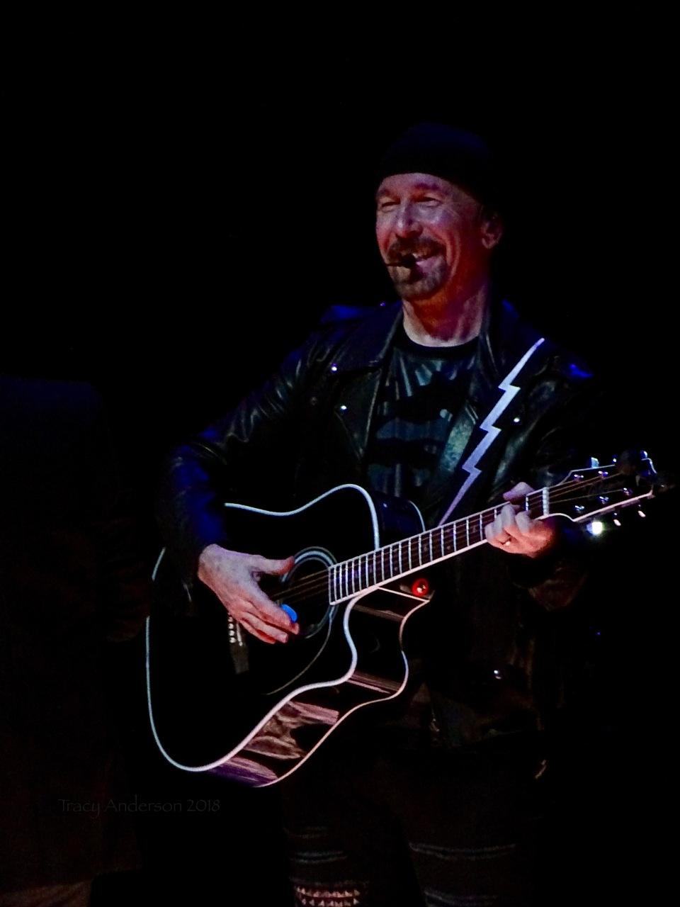 Edge Laughing U2 eXPERIENCE & iNNOCENCE Tour NJ June 29 2018