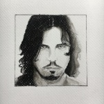 Jeff Martin conte crayon by Tracy Anderson