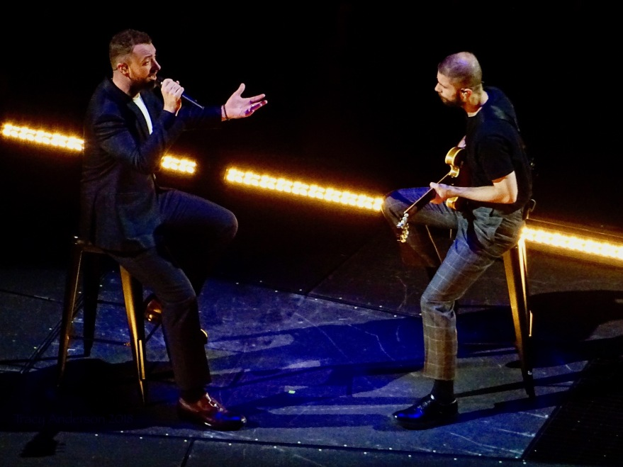 Sam Smith and Guitarist Rogers Place Edmonton Sept 12 2018