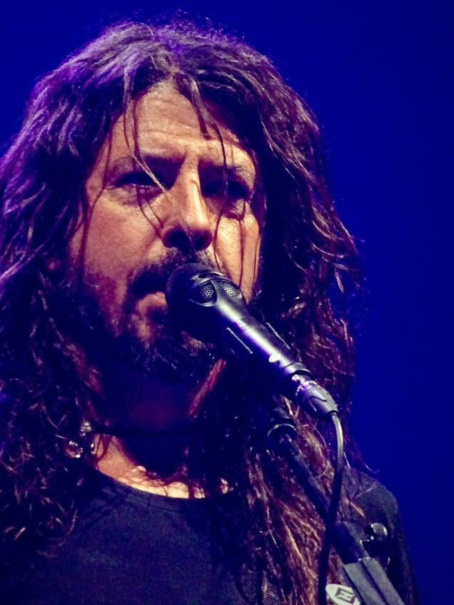 Dave Grohl Foo Fighters Concrete and Gold Tour Blue Close Up 2 Rogers Place Edmonton Oct 22 2018