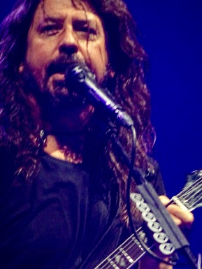 Dave Grohl Foo Fighters Concrete and Gold Tour Blue Close Up Rogers Place Edmonton Oct 22 2018