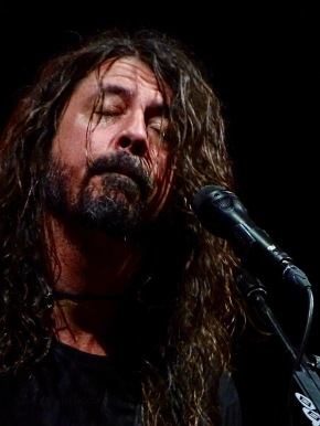 Dave Grohl Foo Fighters Concrete and Gold Tour Closed Eyes Close Up Rogers Place Edmonton Oct 22 2018
