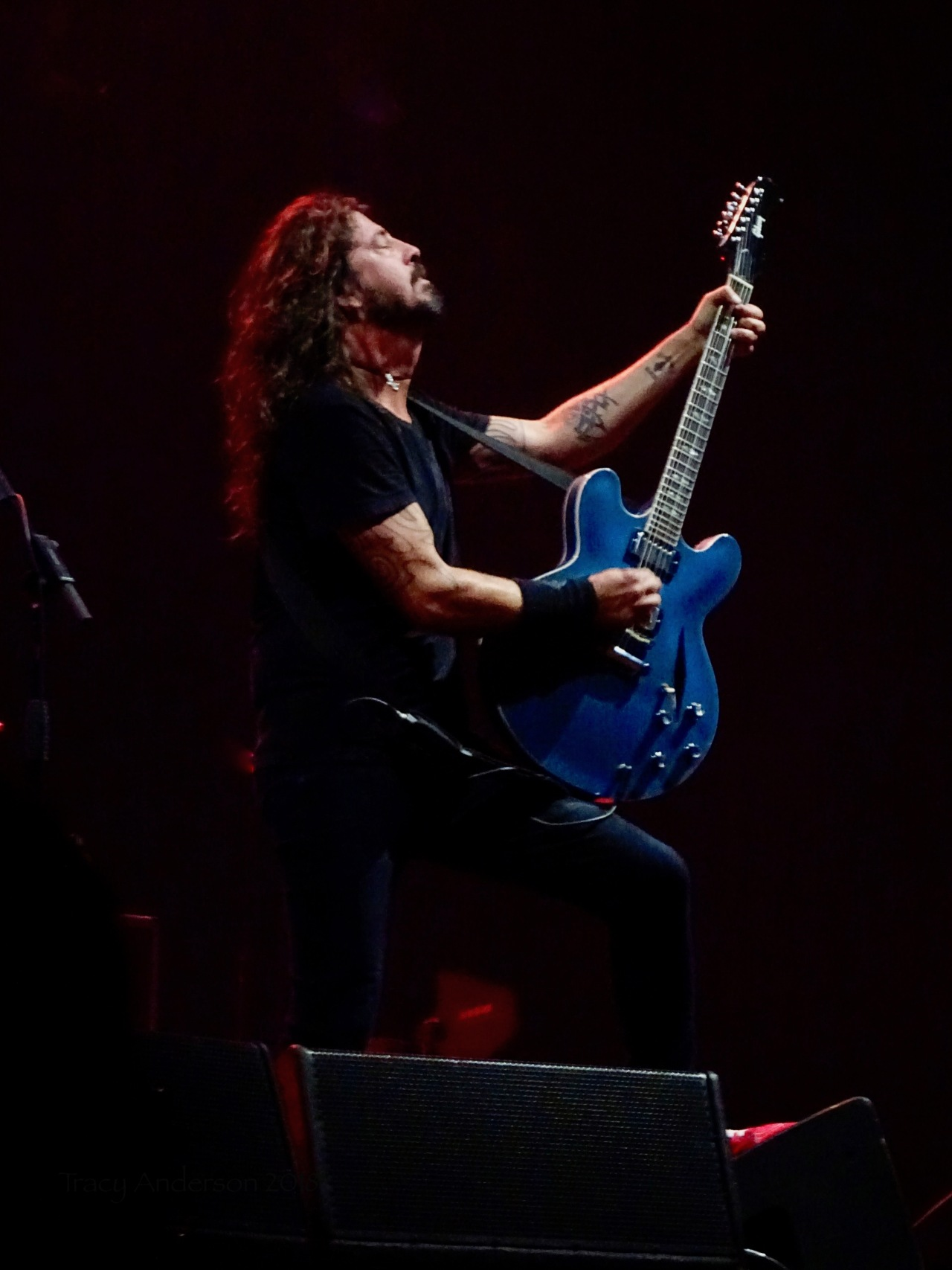 Dave Grohl Foo Fighters Concrete and Gold Tour Guitar ProfileRogers Place Edmonton Oct 22 2018