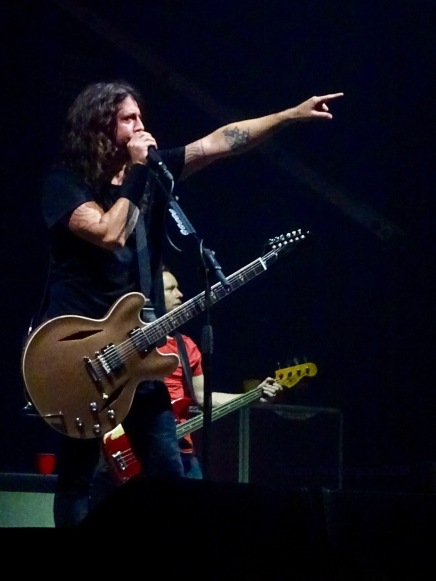 Dave Grohl Nate Mendel Pointing Foo Fighters Concrete and Gold Tour Rogers Place Edmonton Oct 22 2018
