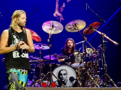 Dave Grohl Taylor Hawkins Drums Foo Fighters Concrete and Gold Tour Rogers Place Edmonton Oct 22 2018