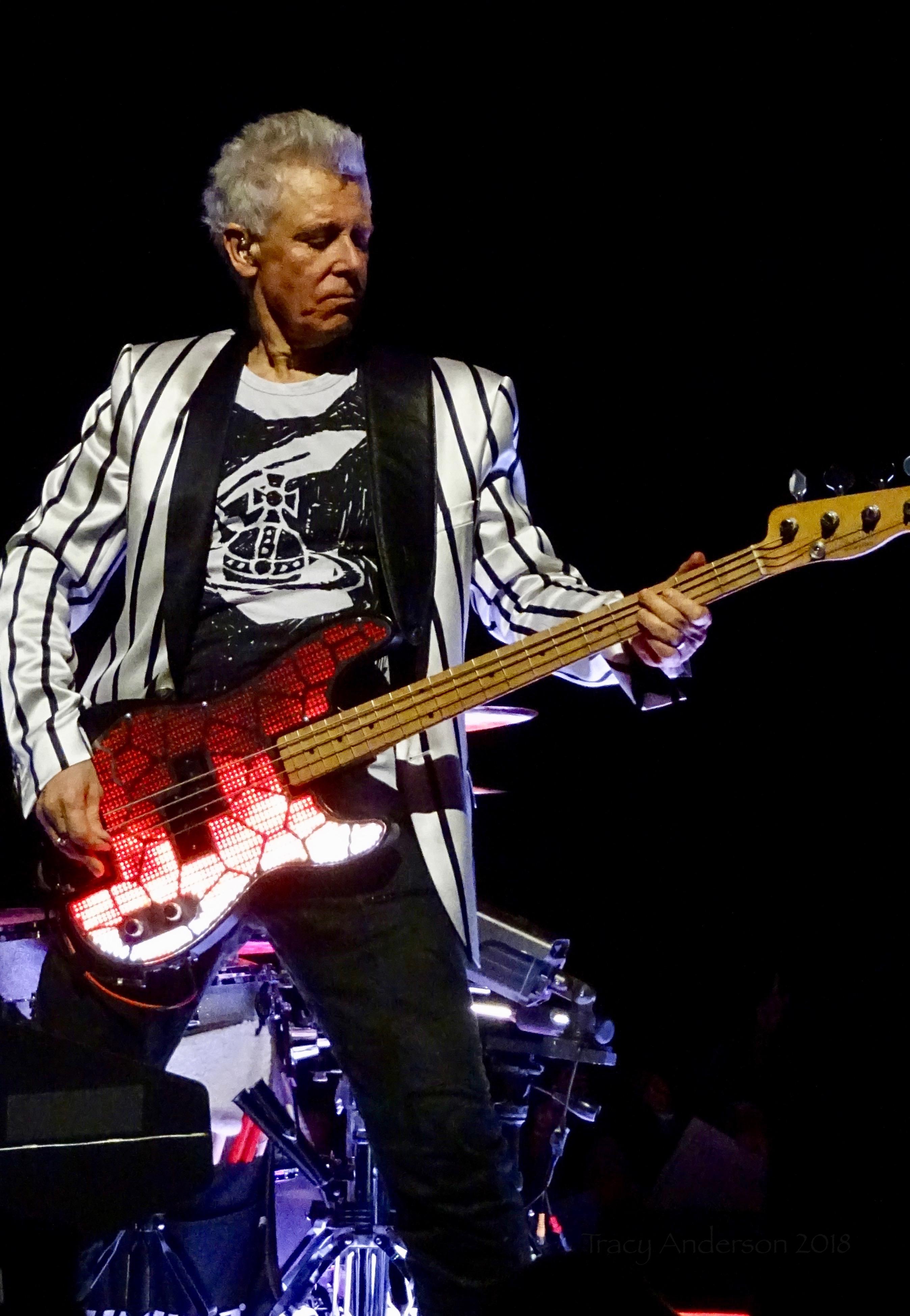 Adam Clayton Lit Bass U2 Dublin 4 3Arena Nov 10 2018